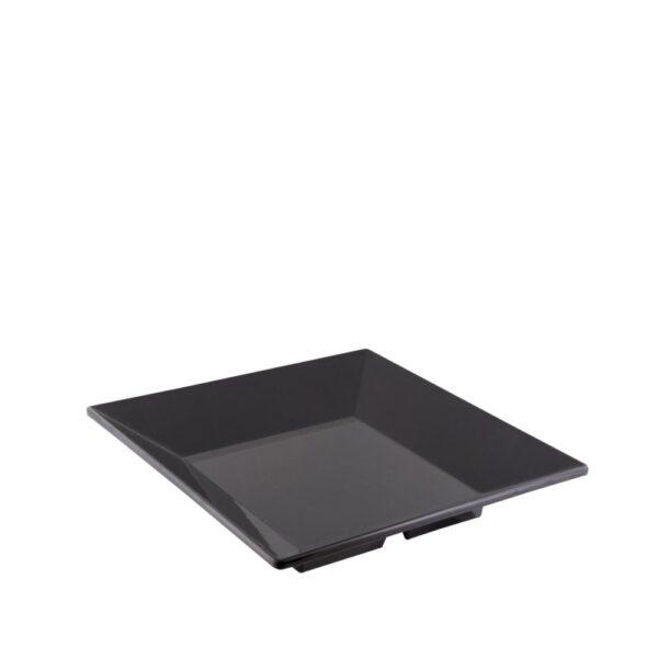 Bandeja melamina negra cuadrada 35x35 cm