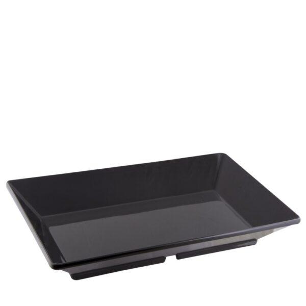 Bandeja melamina negra rectangular 45x27 cm