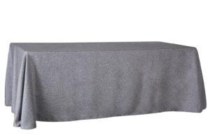 Mantel rectangular gris