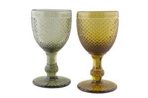 alquiler copas de cristal color rombo