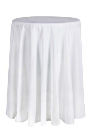 Mantel Blanco Redondo mesa alta