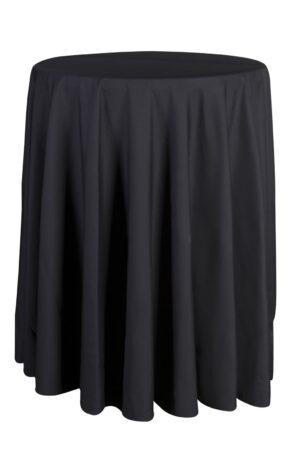 Mantel negro Redondo mesa alta