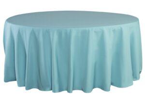 Alquiler de mantel redondo azul turquesa