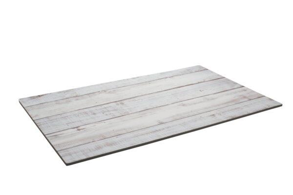 Pizarra melamina madera blanca 52x32 cm