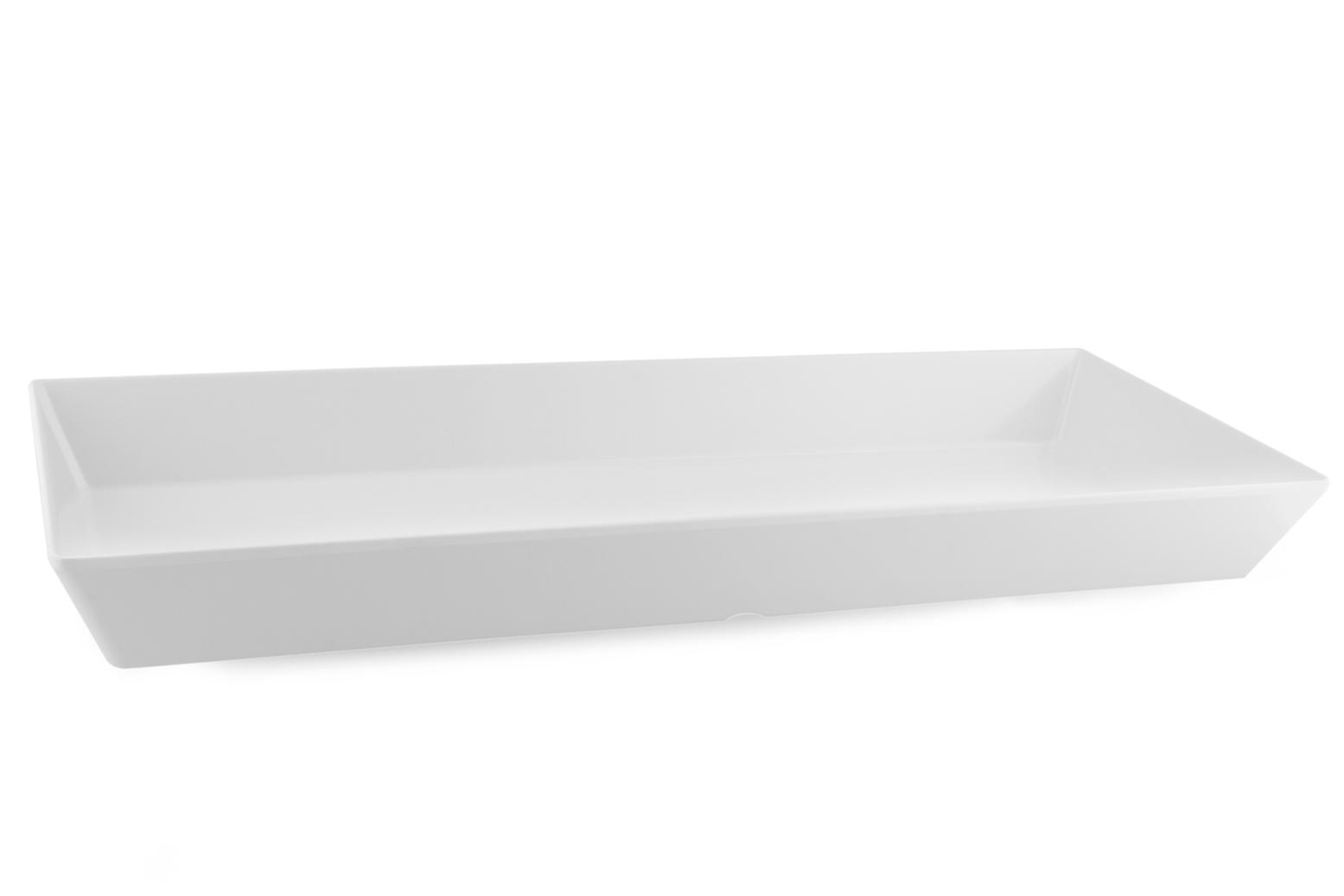 Bandeja/Fuente blanca rectangular 50x20x4