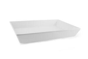 Bandeja Fuente blanca rectangular 35x25x4