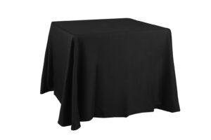 Mantel negro mesa cuadrada